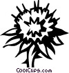 Vector Clip Art image  of a thistle