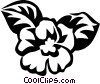 African violet Vector Clipart illustration