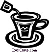 Vector Clipart image  of a teacup