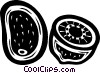 Vector Clipart graphic  of a kiwis