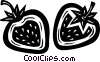 Vector Clip Art image  of a strawberries