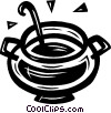 Vector Clip Art graphic  of a soup