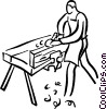 carpenter Vector Clipart illustration