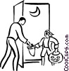 Vector Clipart image  of a Halloween night