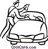 police officer giving a parking ticket Vector Clipart illustration