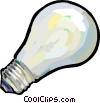Vector Clipart illustration  of a light bulb