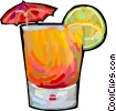 Vector Clip Art image  of an alcoholic beverage