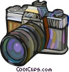 Vector Clip Art image  of a 35mm camera