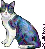 house cat Vector Clipart image
