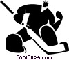 Vector Clip Art graphic  of a Goalie making a save
