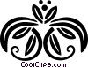 decorative floral design Vector Clipart illustration