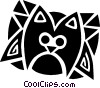 Vector Clipart picture  of a house cat