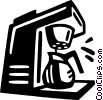 Vector Clipart image  of a coffee machines