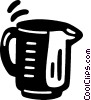 Vector Clipart picture  of a measuring cup