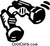 binoculars Vector Clip Art graphic