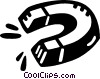 Vector Clip Art image  of a magnet