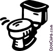toilet bowl Vector Clip Art picture