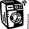 Vector Clip Art graphic  of a clothes dryer