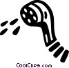 shower head Vector Clip Art graphic