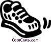 Vector Clip Art image  of a running shoe