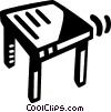 Vector Clipart graphic  of a wooden table