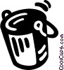Vector Clip Art image  of a bucket