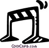 Vector Clip Art image  of a traffic barricades