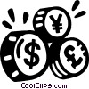currency symbols Vector Clipart illustration