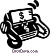 Vector Clipart image  of a money rolodex