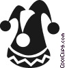 Vector Clip Art picture  of a Court jester hat