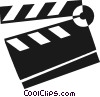 Vector Clip Art image  of a clapper board