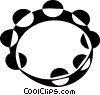 Vector Clip Art picture  of a tambourine