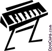 Vector Clip Art graphic  of a keyboards/piano
