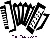 Vector Clip Art graphic  of an accordion