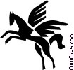 Vector Clipart graphic  of a Pegasus