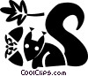 Vector Clip Art picture  of a squirrels