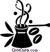 coffee cup and beans Vector Clip Art picture
