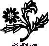 decorative floral elements Vector Clip Art graphic