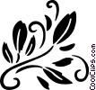 decorative floral elements Vector Clipart image