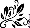 decorative floral elements Vector Clip Art image