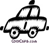 Vector Clip Art graphic  of a taxicabs