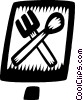 Vector Clip Art graphic  of a fork and spoon