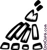 campfires Vector Clip Art graphic
