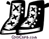 Vector Clip Art picture  of a work boots