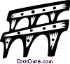 Vector Clipart illustration  of an aqueducts