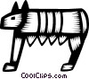 Vector Clipart image  of a Romulus and Remus