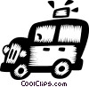 Vector Clipart graphic  of a taxicabs