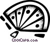 Japanese hand fans Vector Clipart graphic