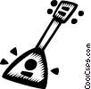 Vector Clip Art graphic  of a balalaika