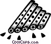 Vector Clip Art picture  of a flute